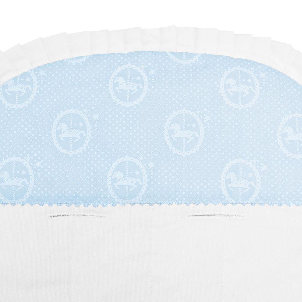 Capa Para Carrinho e Bebê Conforto Carrocel Azul