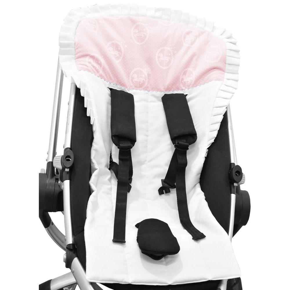Capa para Carrinho e Bebê Conforto Carrocel Rosa