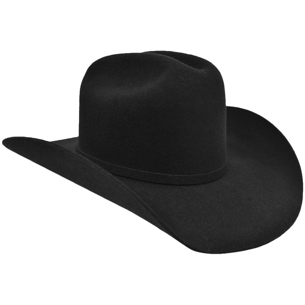 Chapéu de Feltro Eldorado Preto American Horse