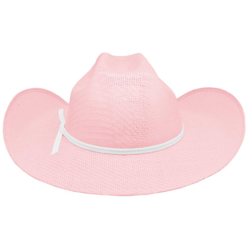 Chapéu Infantil Importado Palha Rosa