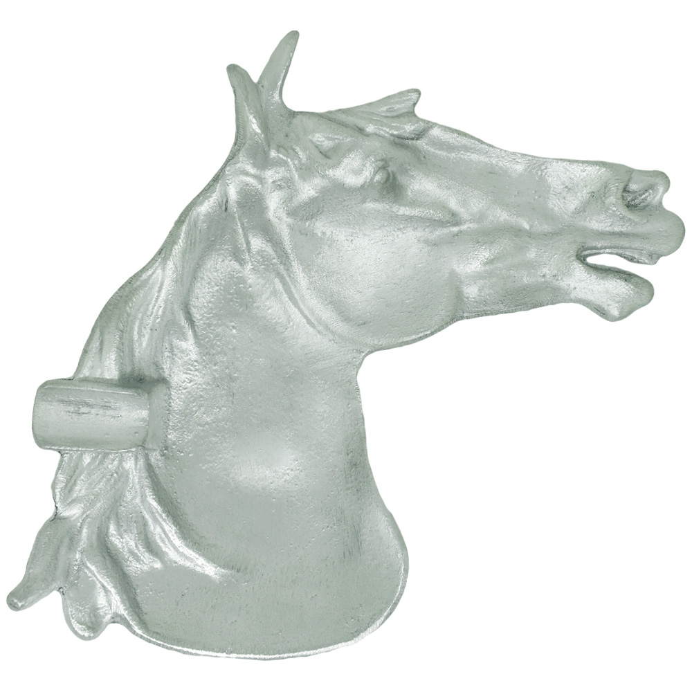 Cinzeiro de Alumínio Importado Cabeça de Cavalo Prateado