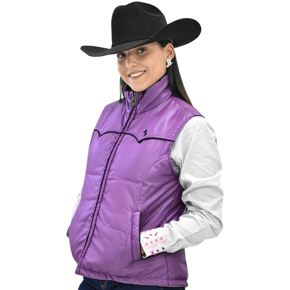Colete Feminino Cowgirl Up Lilás