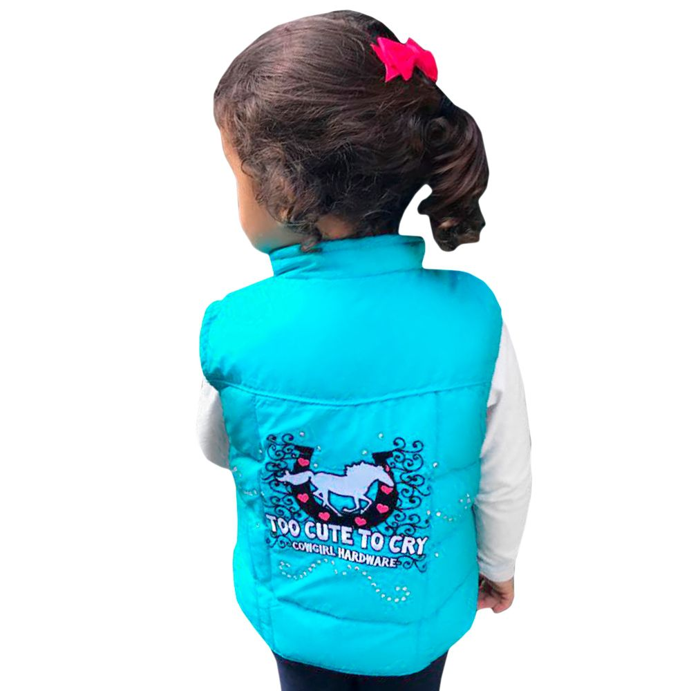 Colete Nylon Bordado Infantil Cowgirl