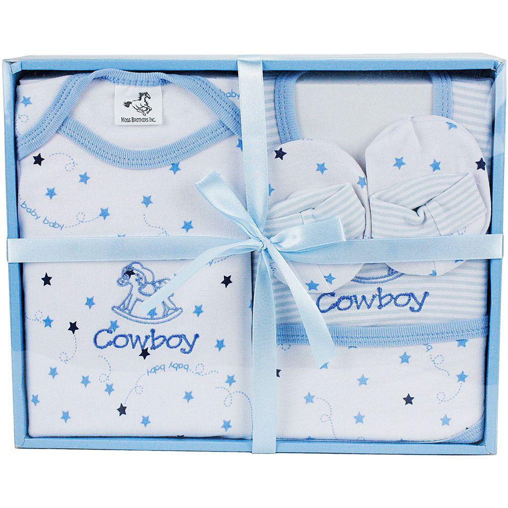 Conjunto Baby Cowboy Azul e Branco