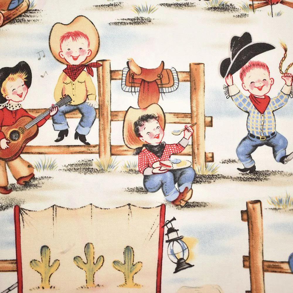 Conjunto De Lençol Country para Berço Fazenda - Crianças na Cerca