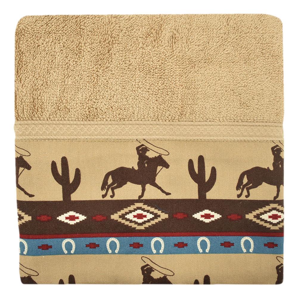 Jogo de Toalhas de Banho e Rosto Cavaleiros Navajo