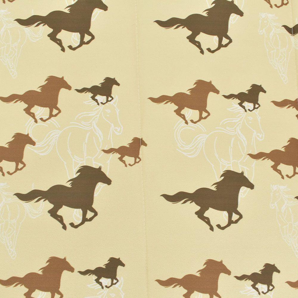 Edredom Solteiro Heloisa Sá Decor Bege Cavalos Marrom
