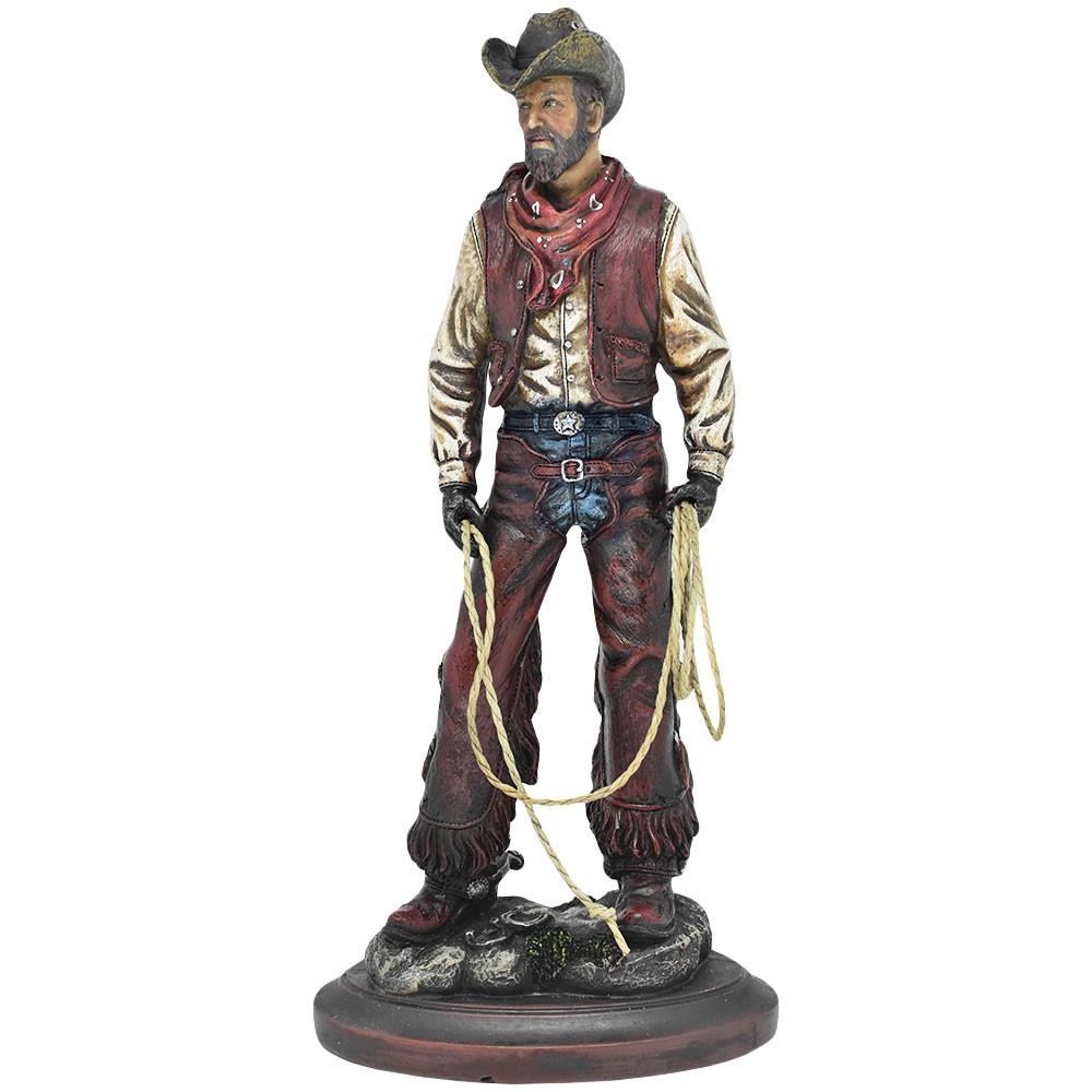 Estátua Cowboy Laço