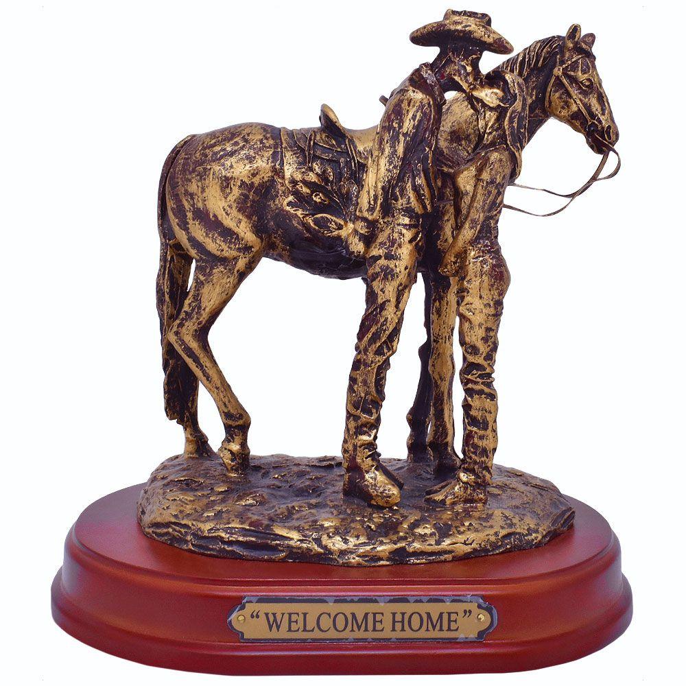 Estátua de Resina Importada Welcome Home