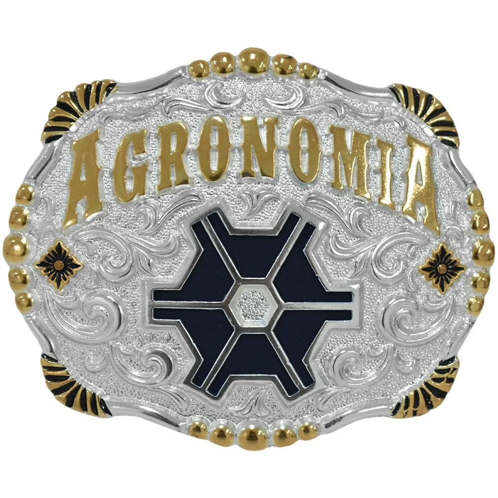 Fivela Pelegrini Agronomia com Arabescos