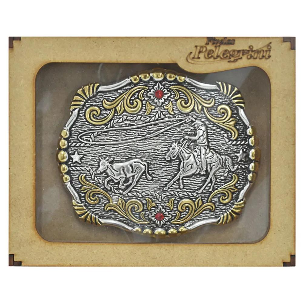 Fivela Pelegrini Boiadeira Cowboy Laço Comprido