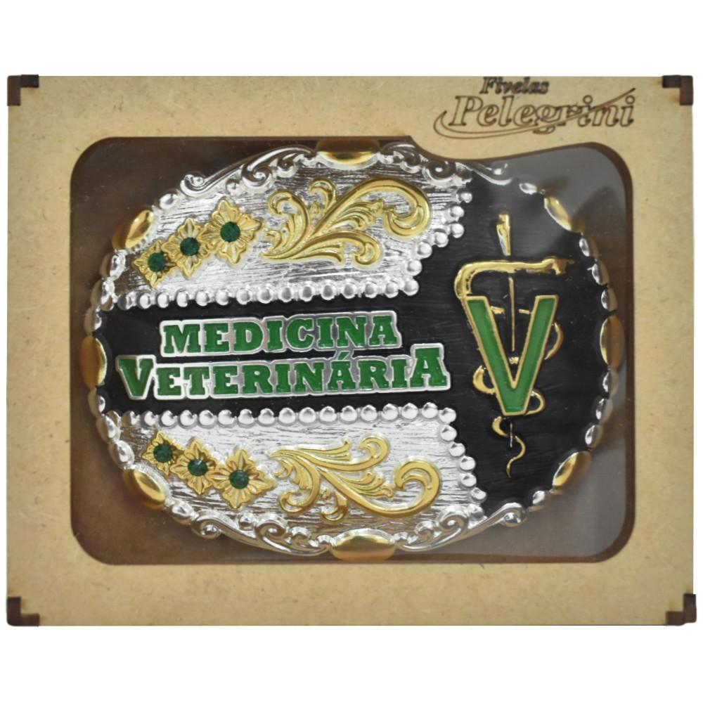 Fivela Pelegrini Boiadeira Medicina Veterinária Floral
