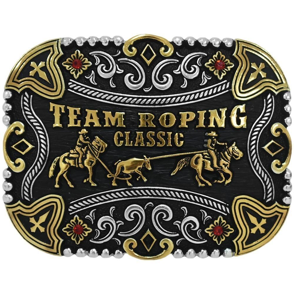 Fivela Pelegrini Boiadeira Professional Team Roping Classic