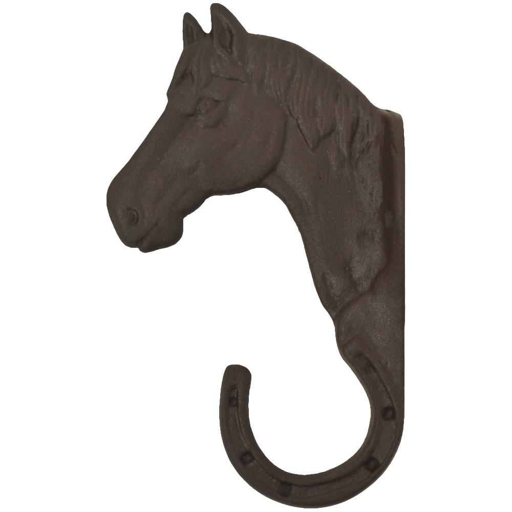 Gancho de Metal Avulso Importado Cabeça de Cavalo Marrom