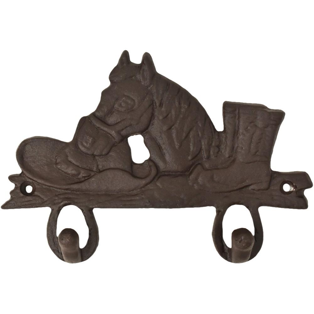 Gancho de Metal Duplo Importado Chapéu, Cavalo e Bota