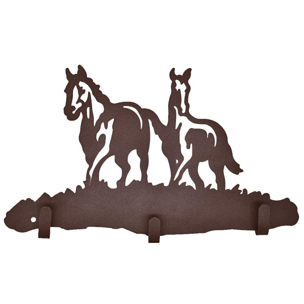 Gancho de Metal Triplo Importado 2 Cavalos