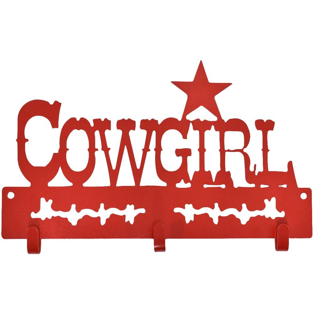Gancho de Metal Triplo Importado Cowgirl Vermelho