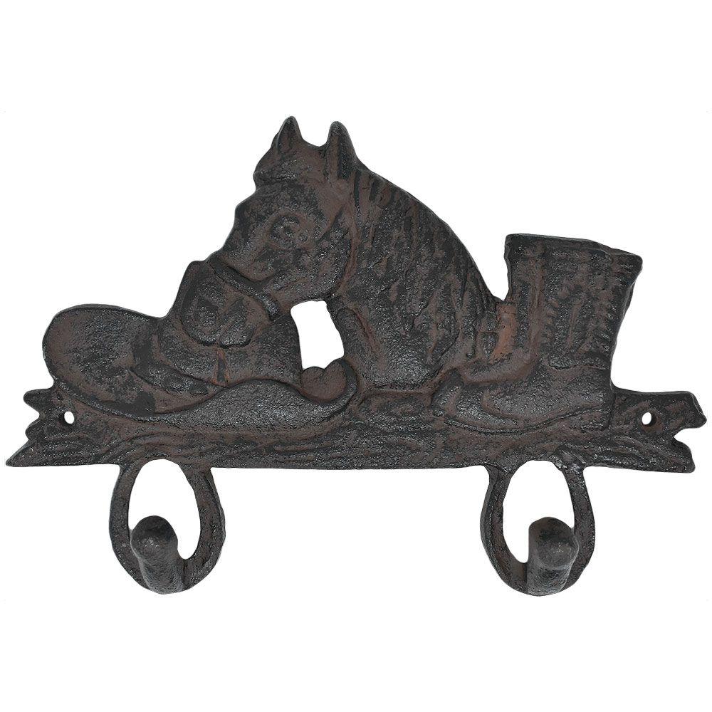 Gancho de Ferro Duplo Importado Chapéu, Cavalo e Bota
