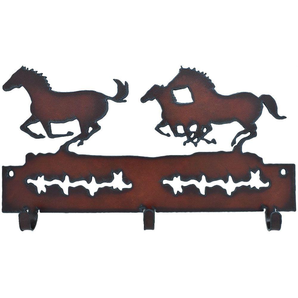 Gancho de Metal Triplo Importado 3 cavalos Sombreados