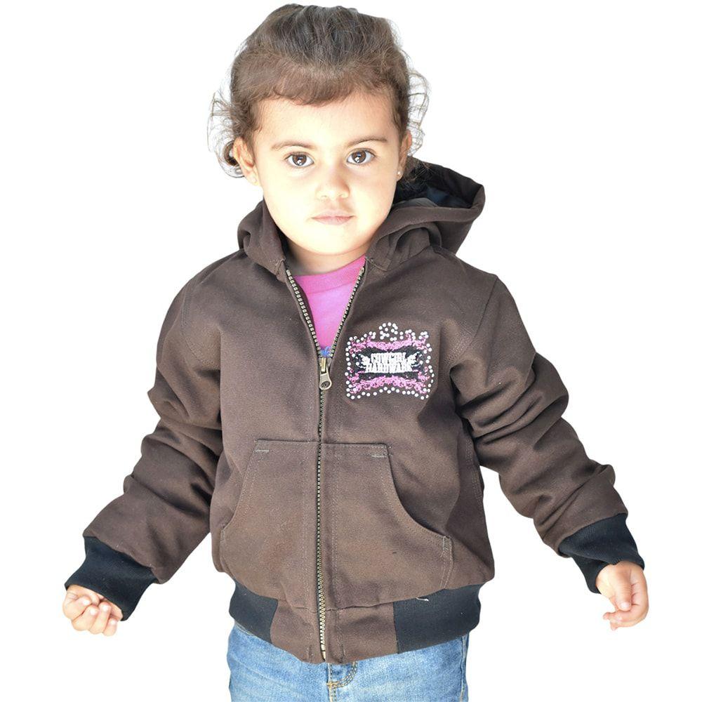 Jaqueta Infantil Marrom Bordada Cowgirl Com Strass