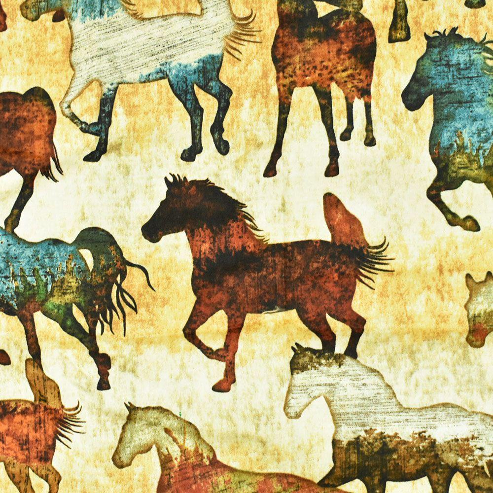 Jogo de Lençol King Heloisa Sá Decor Estampa Cavalos