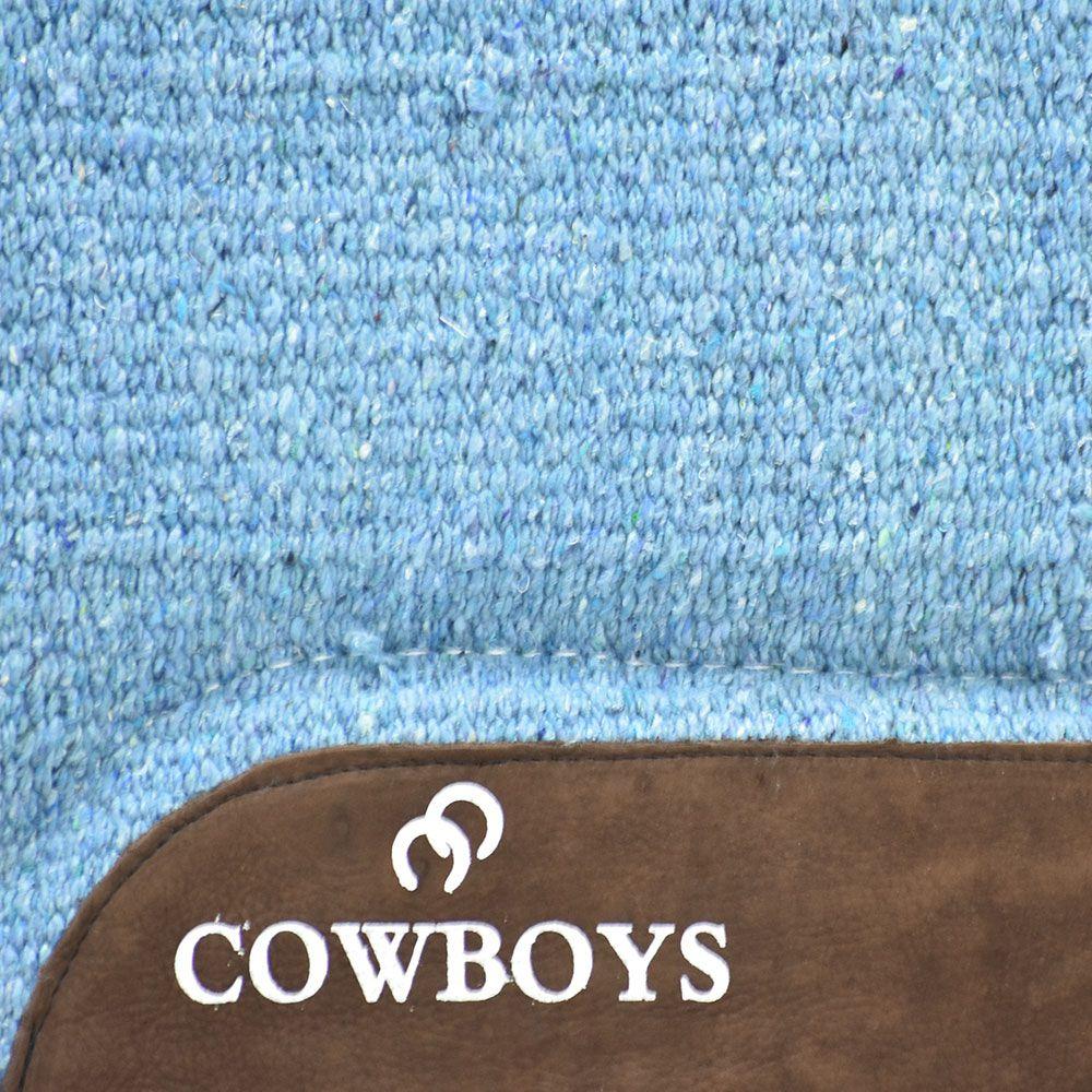 Manta Cowboys Modelo Americano Azul em Lã