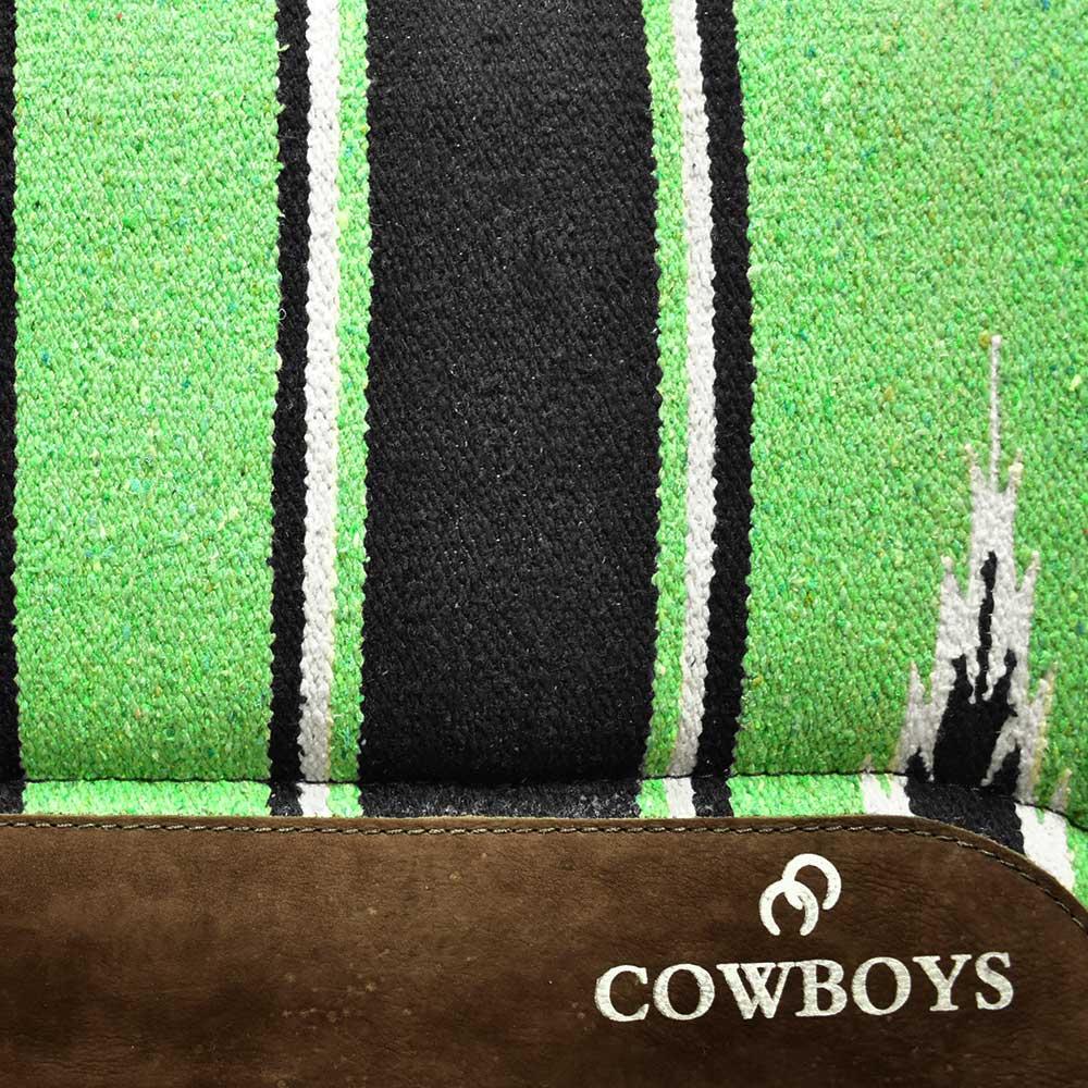 Manta Cowboys Modelo Americano Listrado Verde e Preto