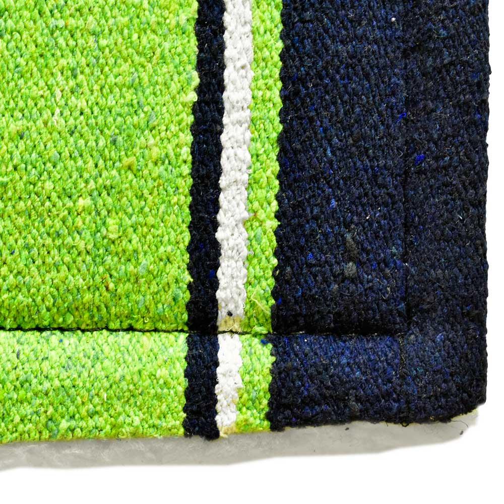 Manta Cowboys Modelo Americano Verde e Azul Marinho