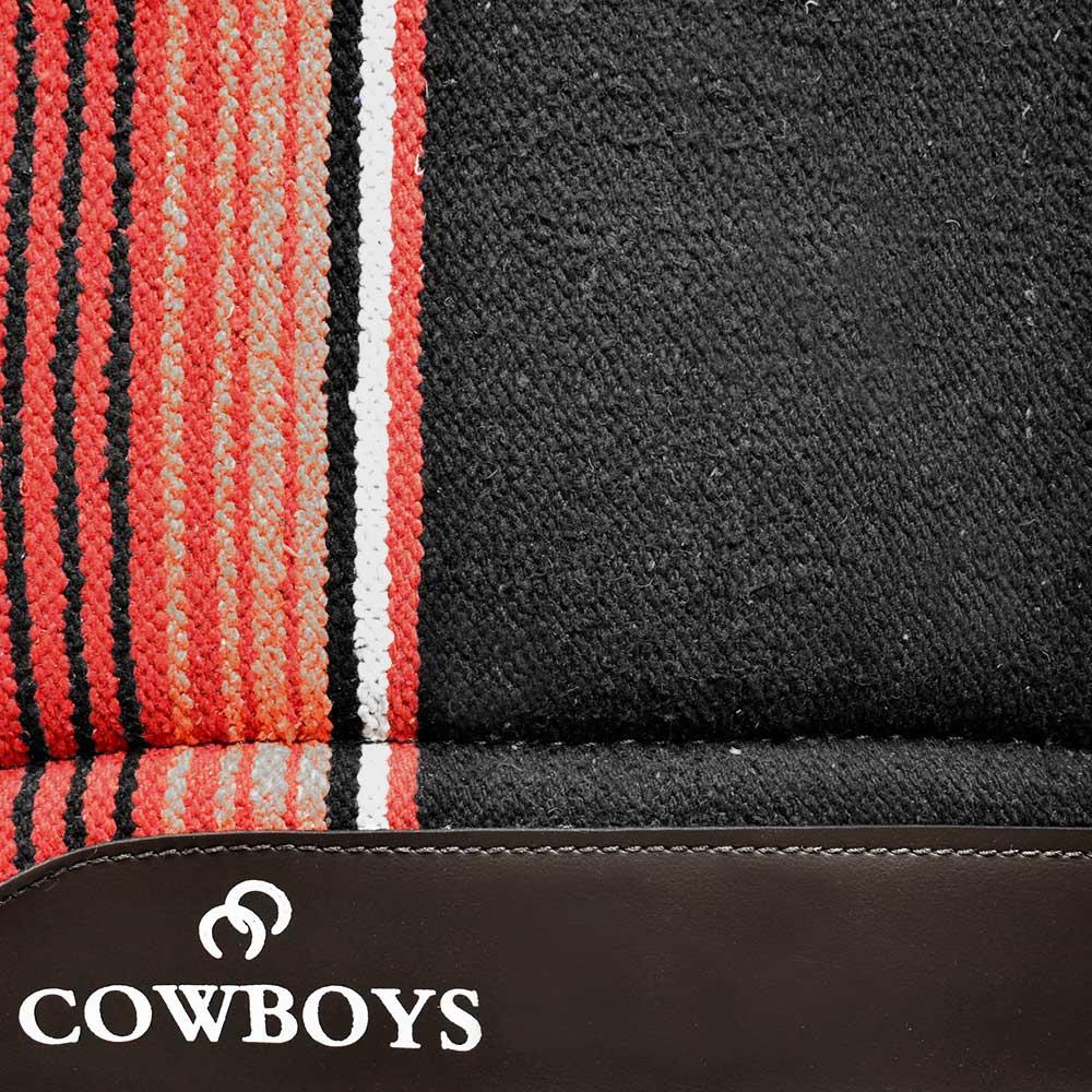 Manta Cowboys Modelo Americano Vermelho e Preto
