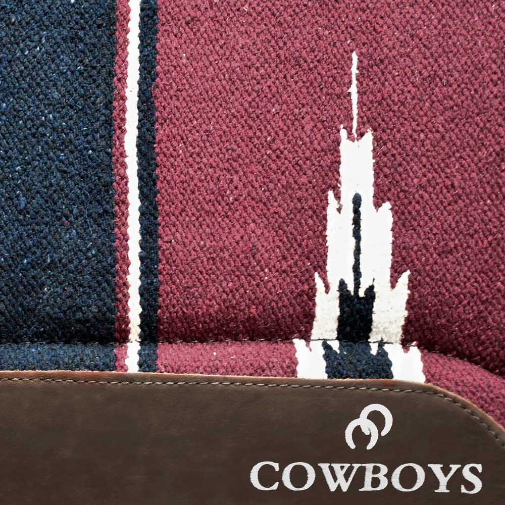 Manta Cowboys Modelo Americano Vinho e Azul