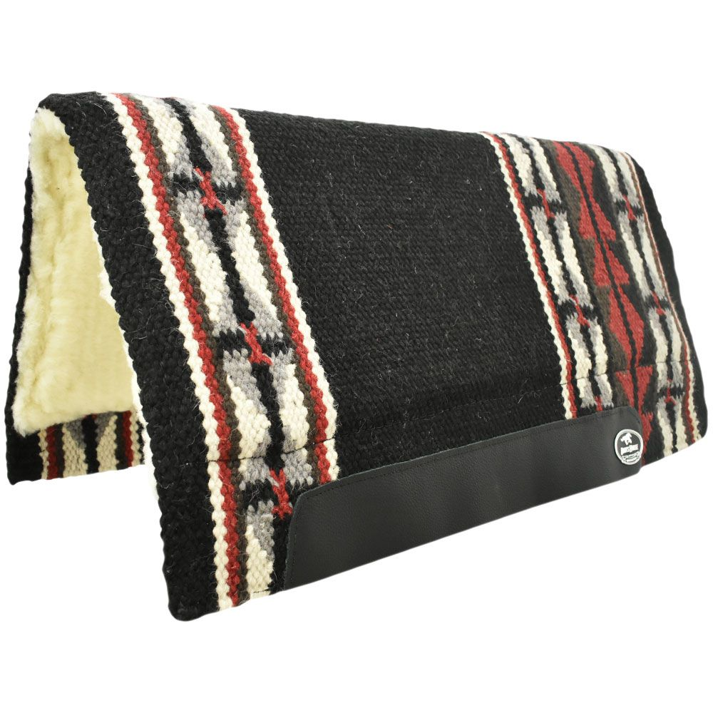 Manta de Lã Boots Horse Preta, Vermelha e Branca