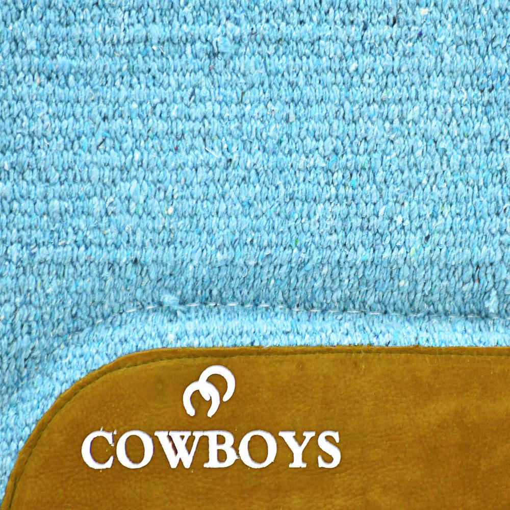 Manta de Lã Cowboys Lisa Azul Celeste