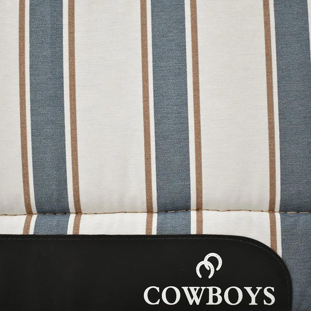Manta de Lã Cowboys Listrada Bege, Azul e Marrom