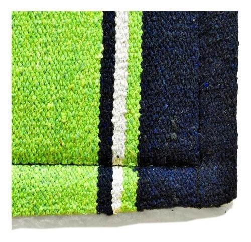 Manta de Lã Cowboys Navajo Verde e Azul Marinho