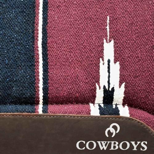Manta de Lã Cowboys Navajo Vinho e Azul Marinho