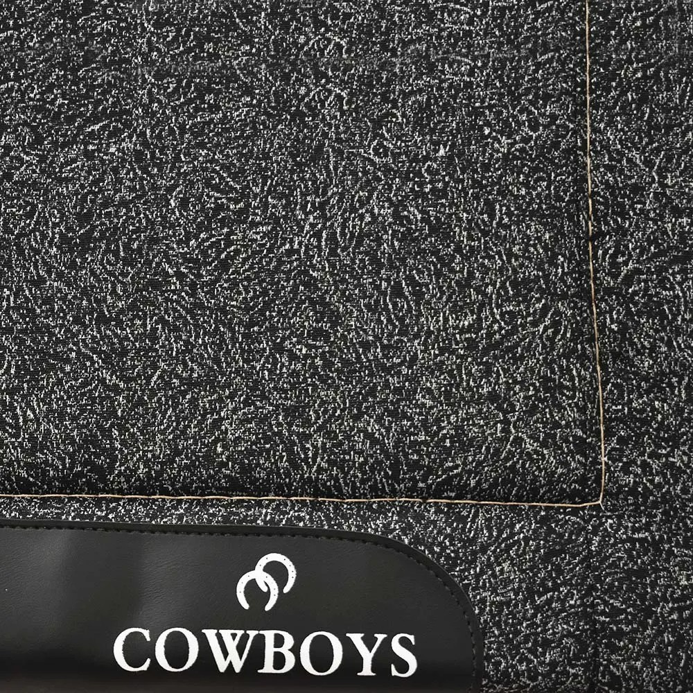 Manta de Lã Cowboys Preto Mescla