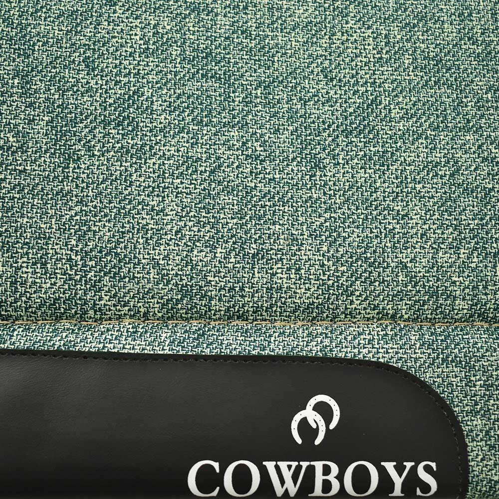 Manta de Lã Cowboys Verde Mescla