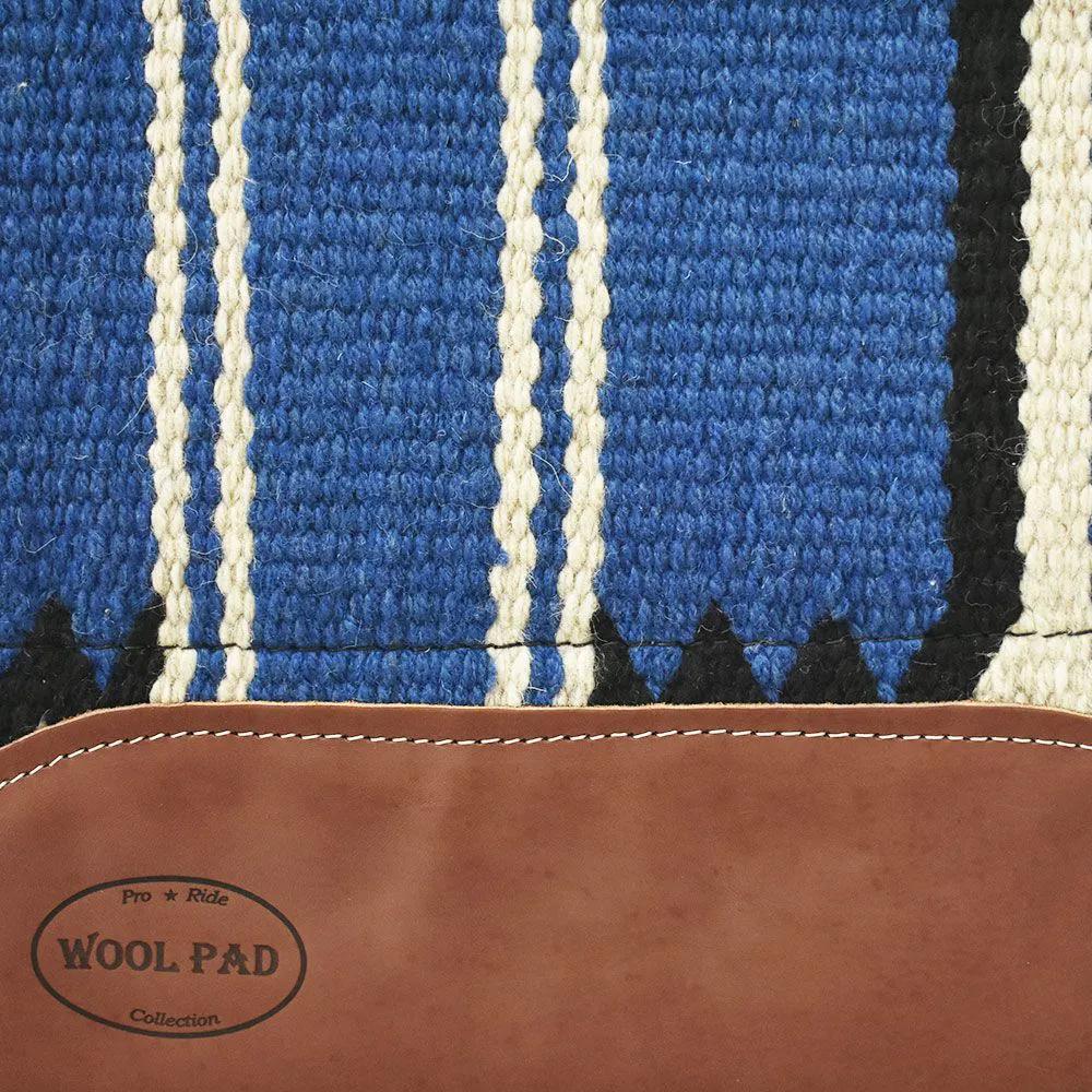 Manta de Lã Mustang Navajo Azul
