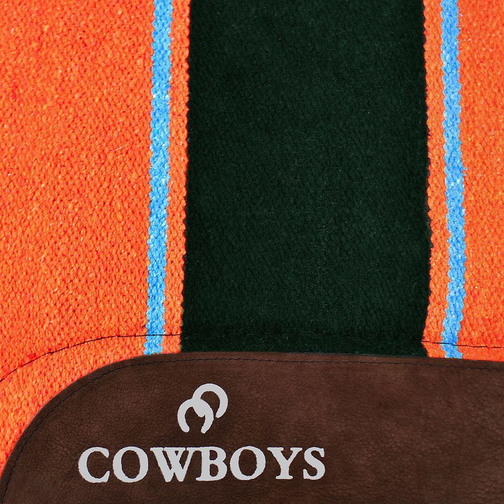 Manta para Cavalo Cowboys Laranja Americano Navajo