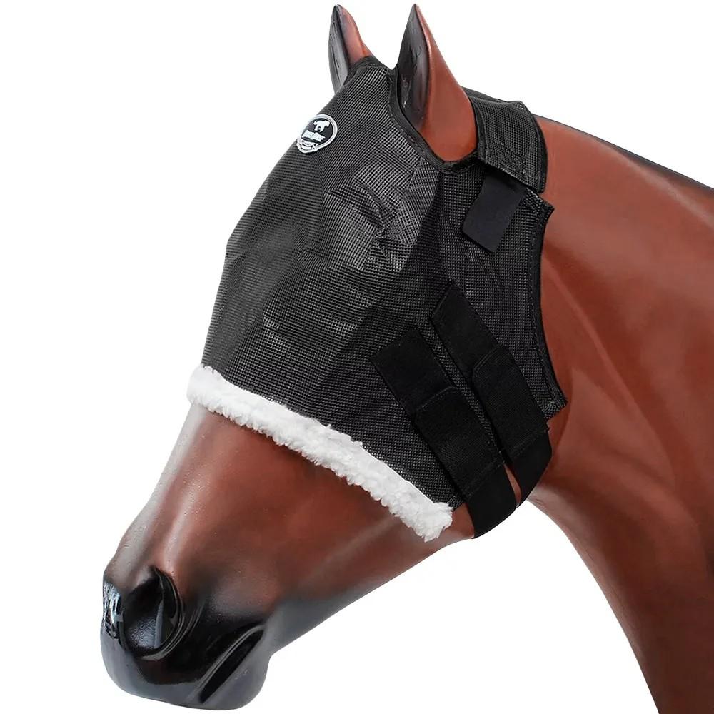 Máscara Antimosca Boots Horse Preta Com Lã