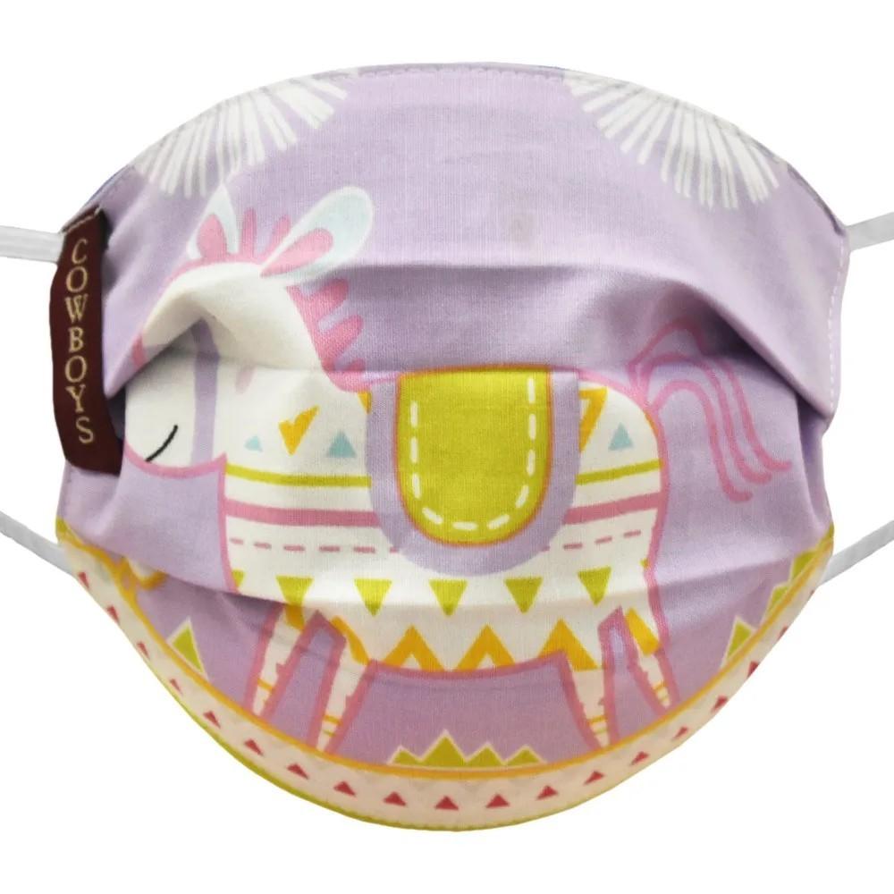 Máscara Infantil Cowboys Lilás Piñatas