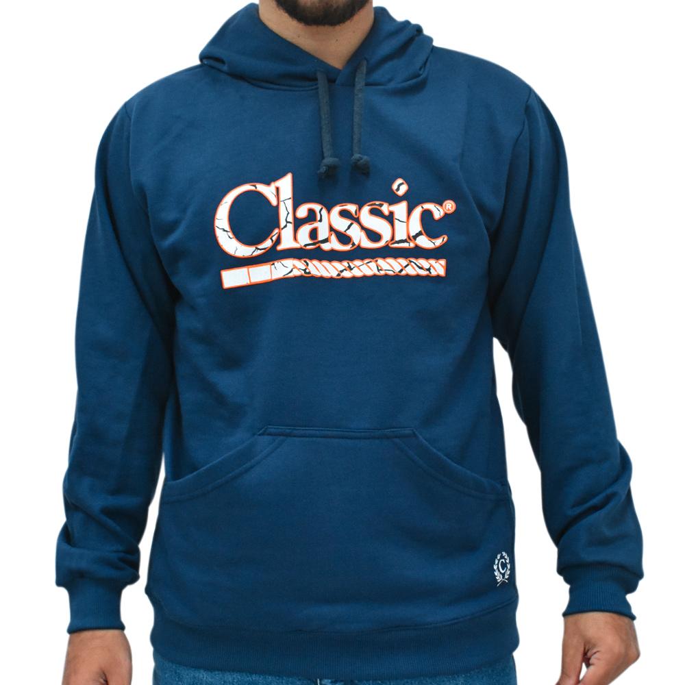 Moletom Classic Azul Marinho com Capuz