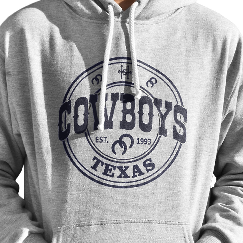 Moletom Cowboys Cinza com Estampa Texas 1993