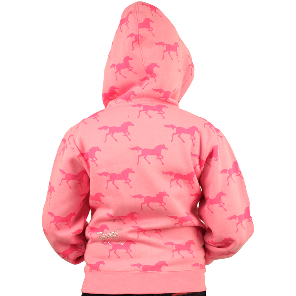 Moletom Feminino Juvenil Rosa Cavalos Pink