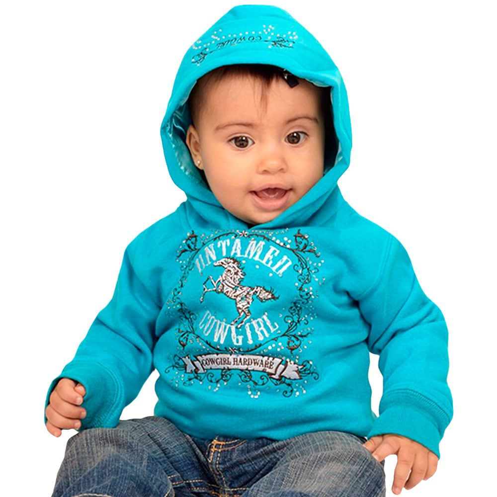 Moletom Infantil Cowgirl Hardware Azul com Strass