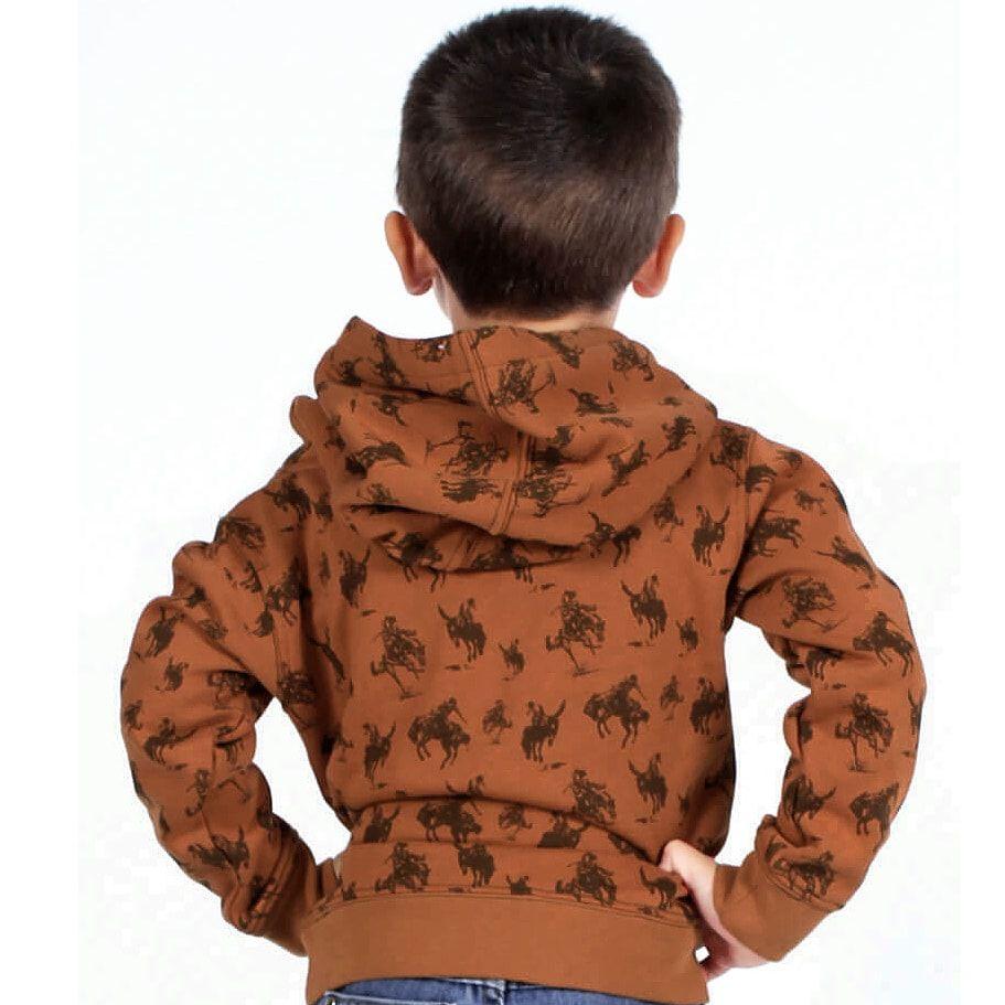 Moletom Infantil Laranja com Estampa de Cowboy