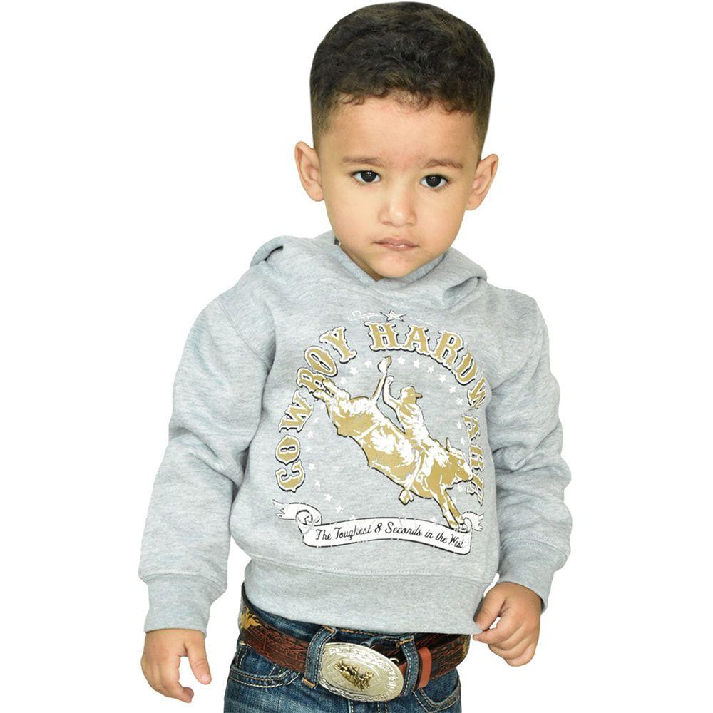 Moletom Infantil Masculino Bull Ride Cinza e Dourado