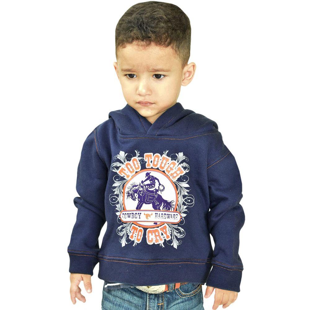 Moletom Infantil Azul Marinho Com Capuz Estampado