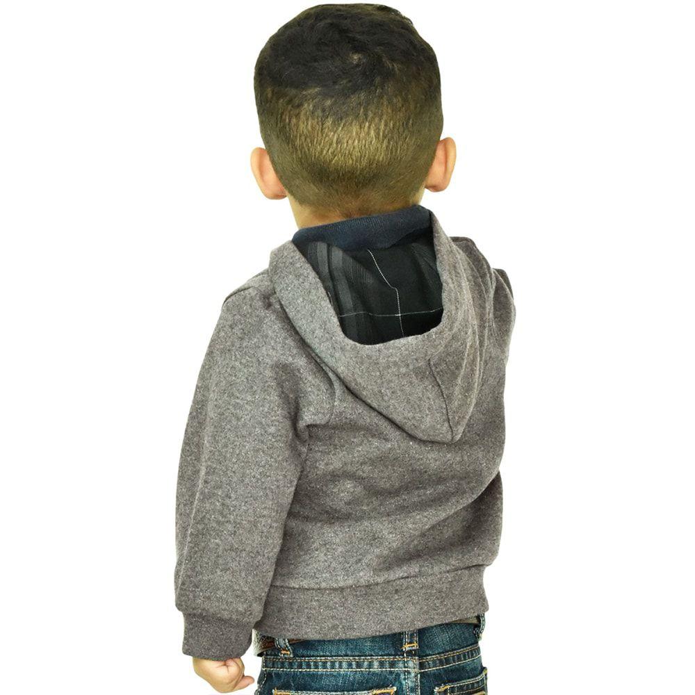Moletom Infantil Masculino Wrangler Lil' Cowboy Chumbo Com Capuz