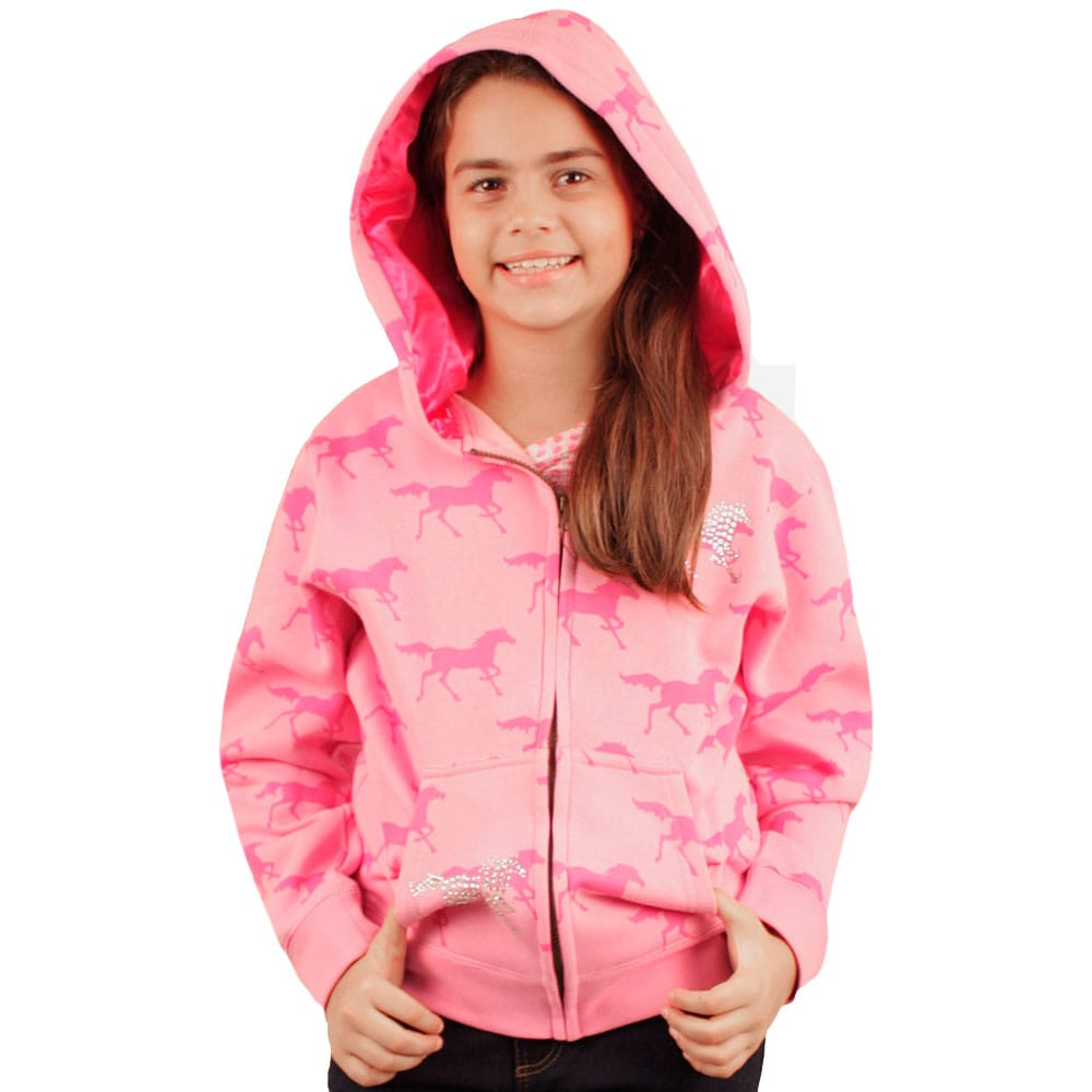 Moletom Infanto e Juvenil Cowgirl Hardware Pink